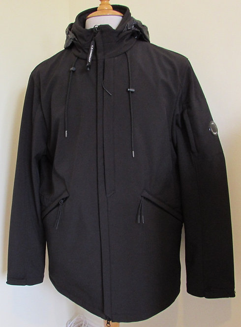 07CM0W016A C.P. Company 'Shell' Hooded Jacket in Black(999)