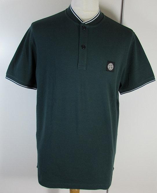 681521518 Stone Island Short Sleeved Baseball Collar Shirt in Moss (V0059)