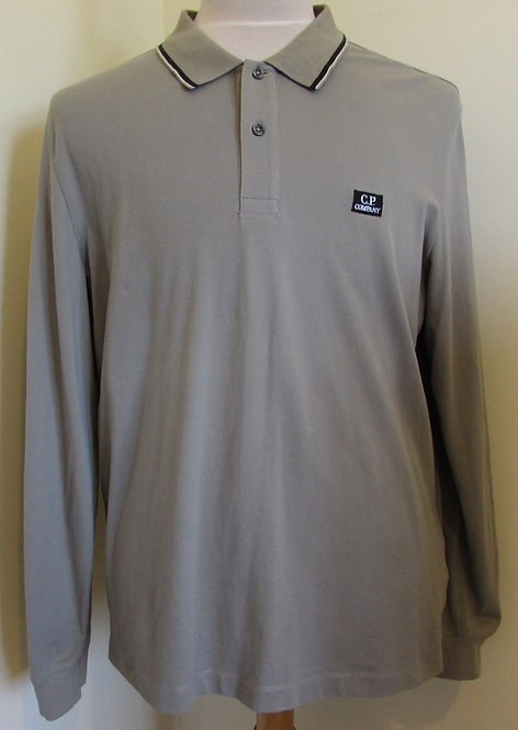 05CMPL041A C.P. Company Long Sleeved Polo Shirt in Grey (933)