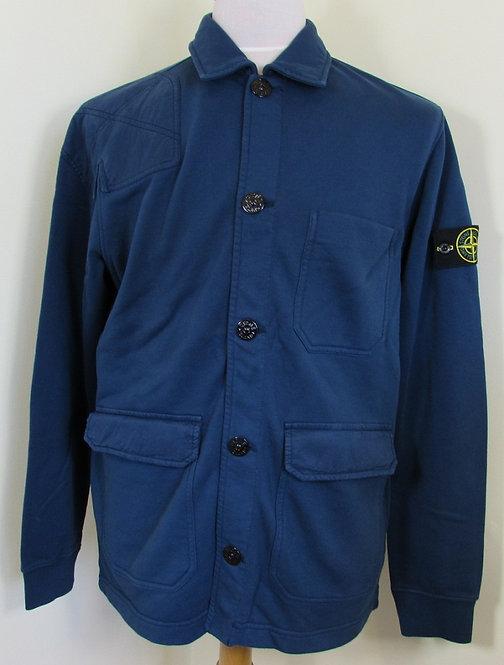 701563851 Stone Island Button Sweatshirt in Marine (V0028)