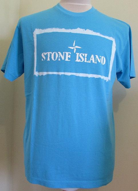 74152NS80 Stone Island Round Neck Tee Shirt in Blue(V0042)