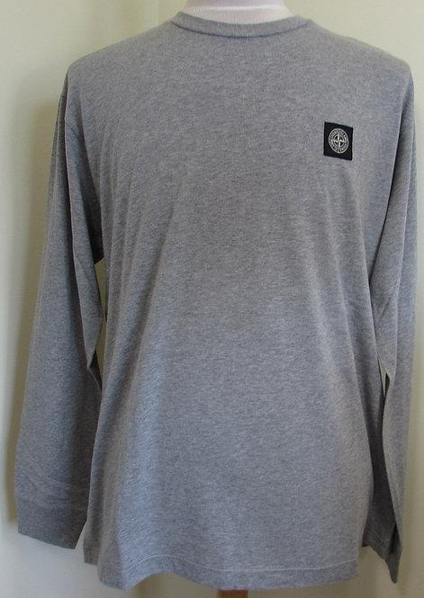 711522713 Stone Island Long Sleeve Tee Shirt in Grey (V0M64)