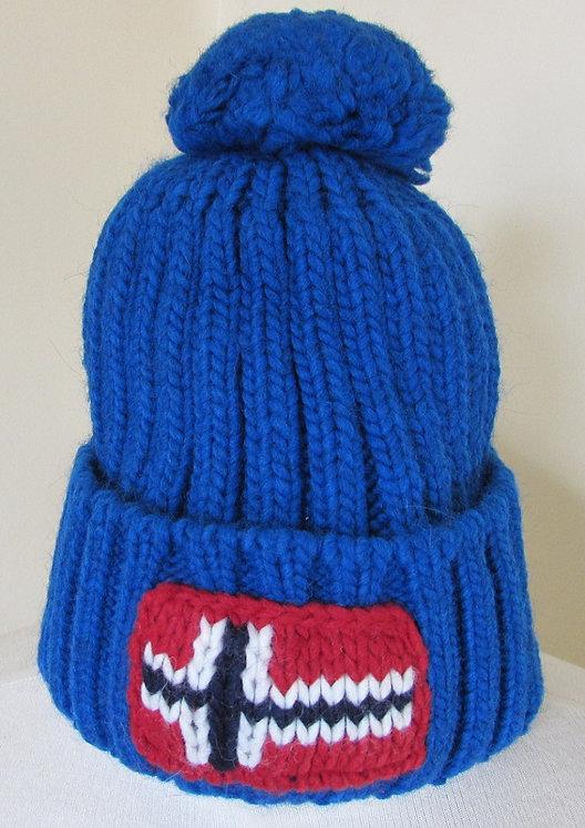 Napapijri 'Semiury' Bobble Hat in Mountain Blue