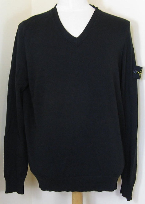 5615541B2 Stone Island V-Neck Knitwear in Black (V0029)