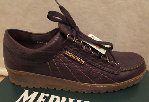 Mephisto 'Rainbow' Shoes in Dark Brown Mamouth with Contrast Sole (751/35)