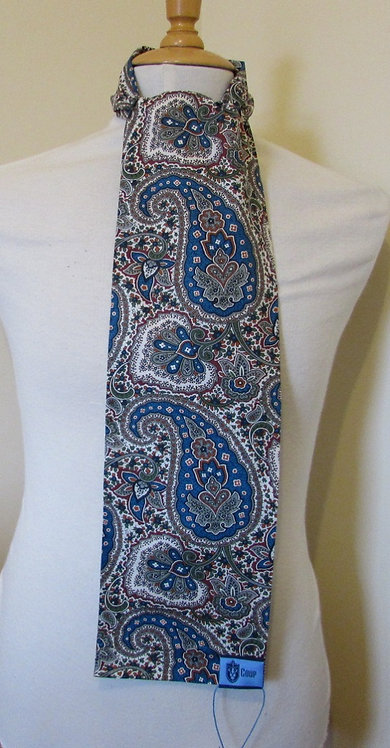 COUP 'Stant' Paisley Scarf in Navy and Green
