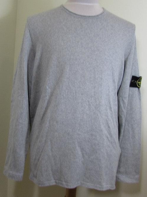 6815569B9 Stone Island Round Neck Knit in Light Grey (V0064)
