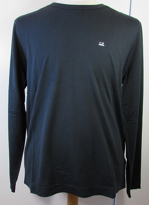 04CMTS065A C.P. Company 'Mako Cotton' Long Sleeve Tee Shirt in Black (999)