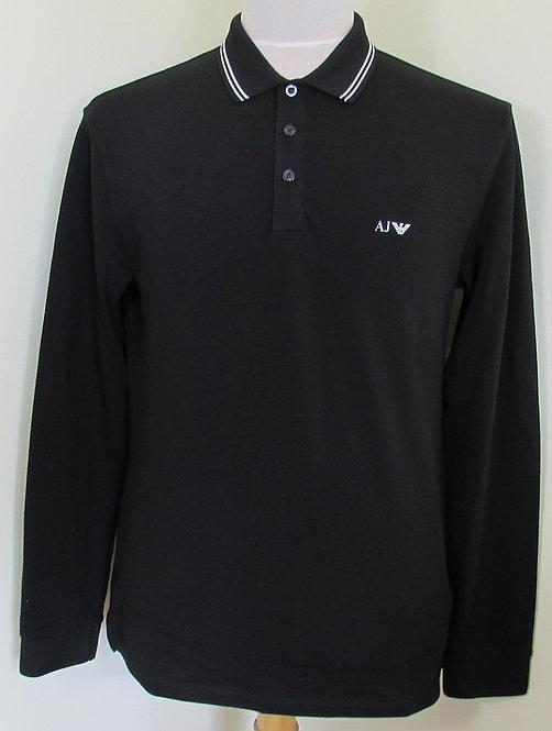 8N6F36 6JPTZ Armani Jeans Polo Shirt in Black (1200)