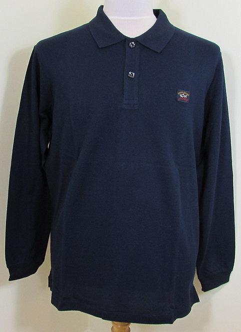 C0P1001 Paul & Shark Polo Long Sleeved Shirt in Navy (013)