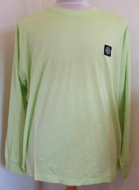 711522713 Stone Island Long Sleeve Tee Shirt in Green (V0051)