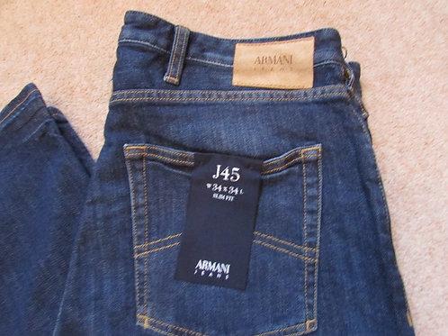 6Y6J45 6D31Z J45 Armani Jeans Slim Fit in Dark Denim (Denim)with Contrast Stitch