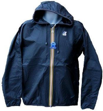 K-WAY 'CLAUDE' Hooded Rain Jacket in BLACK
