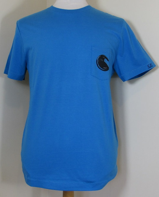 15SCPUH02355 C.P. Company 'Lens' Tee Shirt in Blue (834)