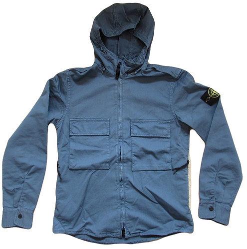 611510211 Stone Island Hooded Jacket/Overshirt in Blue (V0023)