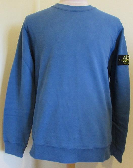 731563020 Stone Island Round Neck Sweatshirt in Periwinkle Blue (V0043)