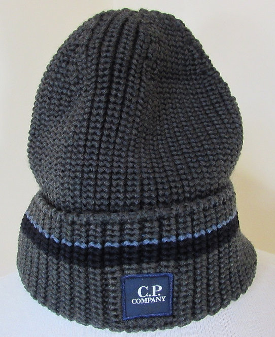 05CMAC175A  C.P. Company Beanie Hat in Dark Olive (659)