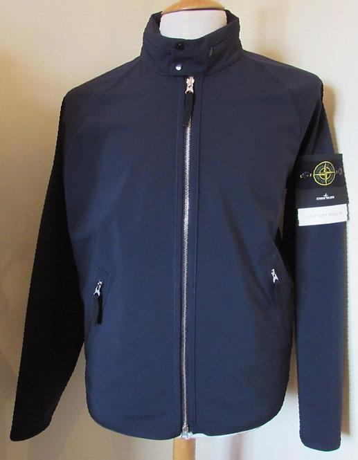 681540727 Stone Island 'Light Soft Shell-R' Hooded Jacket in Navy (V0020)