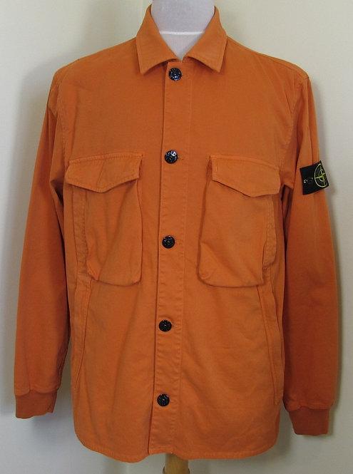 701513002 Stone Island Garment Dyed Stretch Jacket/Overshirt in Orange (V0032)