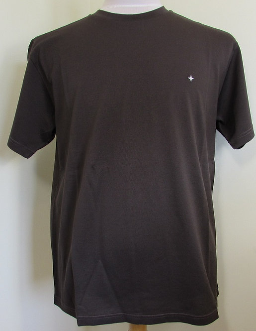 711521312 Stone Island Round Neck Tee Shirt in Brown (V0070)