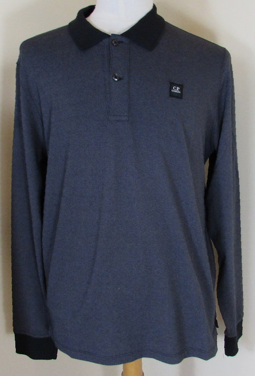 16WCPUT0117 C.P. Company 'Tacting' Polo Shirt in Black (999)