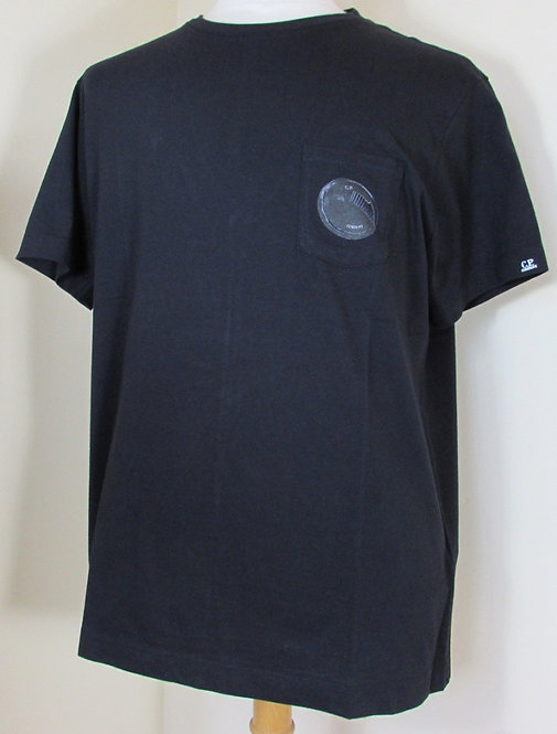 02CMTS071A C.P. Company 'Lens' Tee Shirt in Black (999)