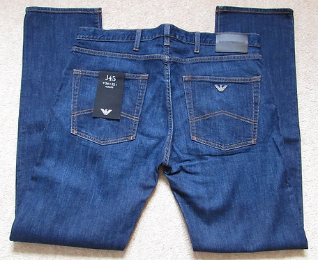 8N1J45 1D0LZ J45 Armani Jeans Slim Fit in Denim (Denimblu) with Contrast Stitch
