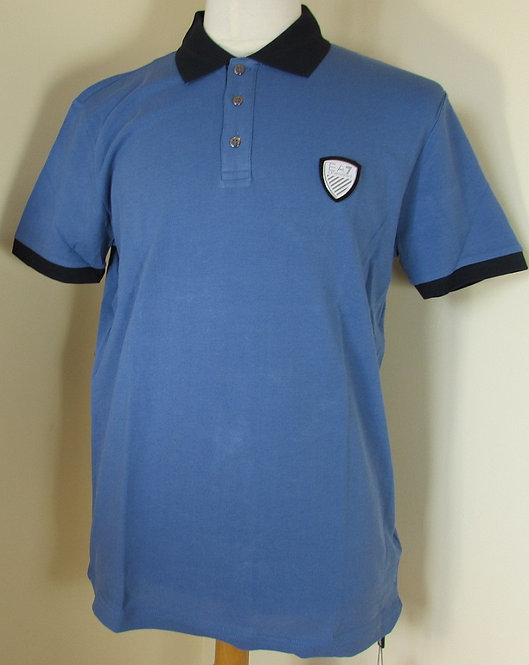 EA7 Emporio Armani  Polo Shirt in Indigo Blue
