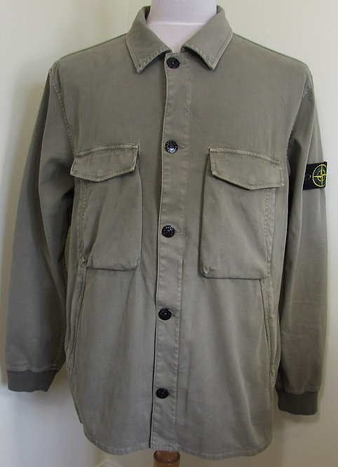 701513002 Stone Island Garment Dyed Stretch Jacket/Overshirt in Green (V0068)