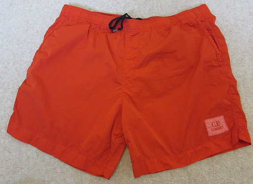 06CMBW164A C.P. Company 'Chrome' Swimshorts in Red (547)