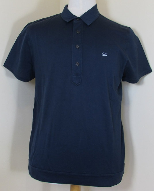15SCPUT02236 C.P. Company 'Micro Net' Polo Shirt in Dark Blue (888)