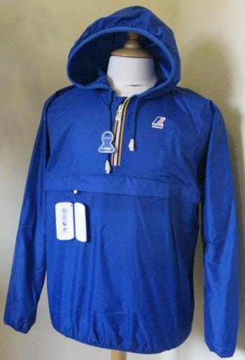 K-WAY 'LEON' Hooded Rain Jacket in ROYAL BLUE