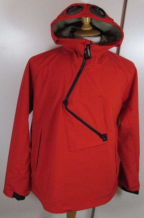 06CMOW017A C.P. Company 'Shell' Overhead Goggle Hood Jacket - High Risk Red (54)