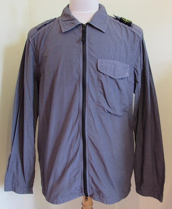 741510802 Stone Island 'Naslan Light' Overshirt in Blue Grey (V0063)