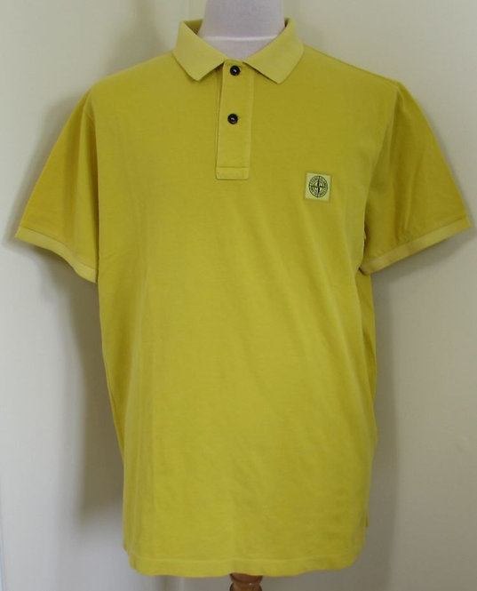 691522S67 Stone Island Polo Shirt in Yellow (V0034)