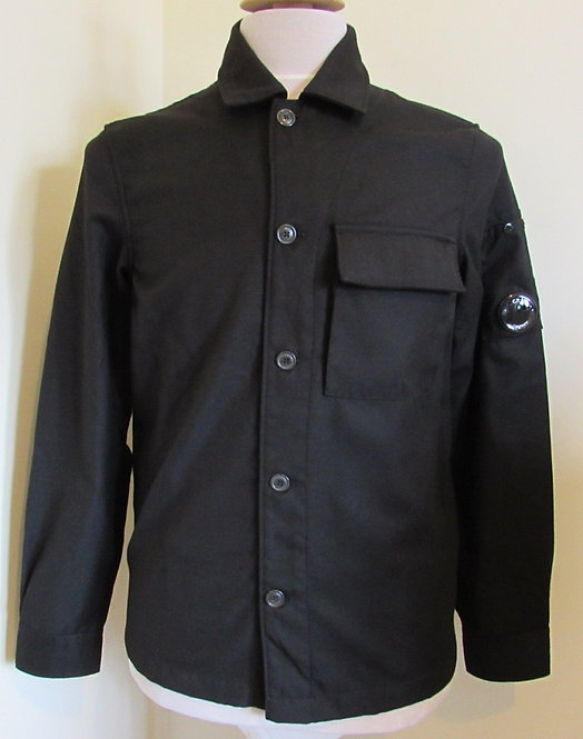 09CMSH291A C.P. Company 'Flanella' Overshirt in Black (999)