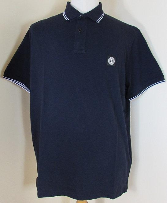 101522S18 Stone Island Short Sleeved Polo Shirt in Navy (V0020)