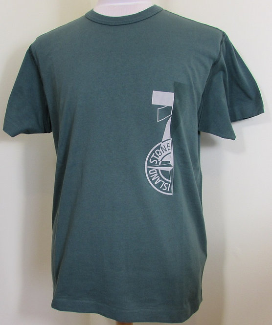 711523382 Stone Island Round Neck Tee Shirt in Green (V0057)