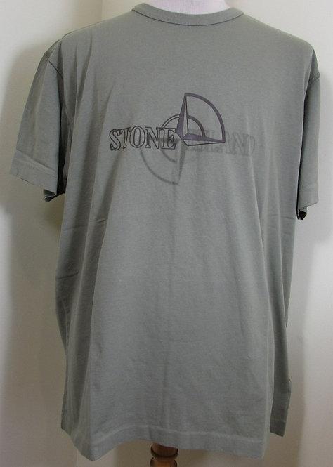 711523381 Stone Island Round Neck Tee Shirt in Green (V0068)