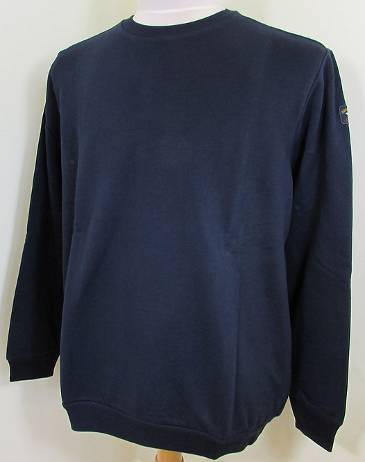 A19P1887 Paul & Shark Round Neck 'Diamond Peach' Sweatshirt in Navy (013)