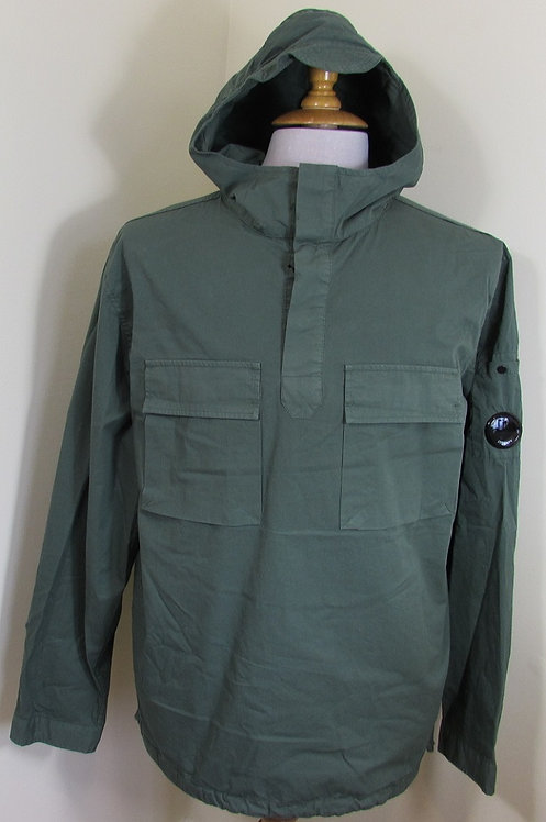 10CMSH175A C.P. Company Gabardine Overshirt Smock in Grey (668)