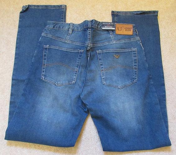 V6J91 J21 7F Armani Jeans Regular Fit in Fade Denim (Denim)