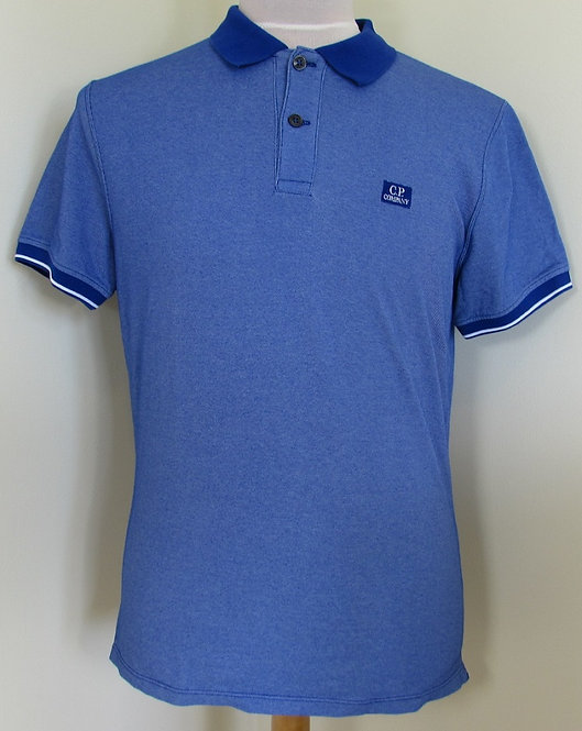 04CMPL066A C.P. Company 'Tacting' Polo Shirt in Blue