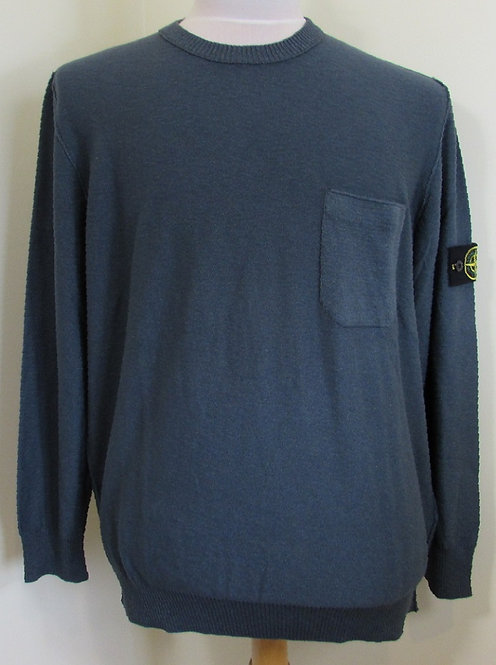 6815556B0 Stone Island Round Neck Knitwear in Grey (V0063)