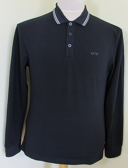 3Y6T35 6JPZF Armani Jeans Polo Shirt in Navy (1579)