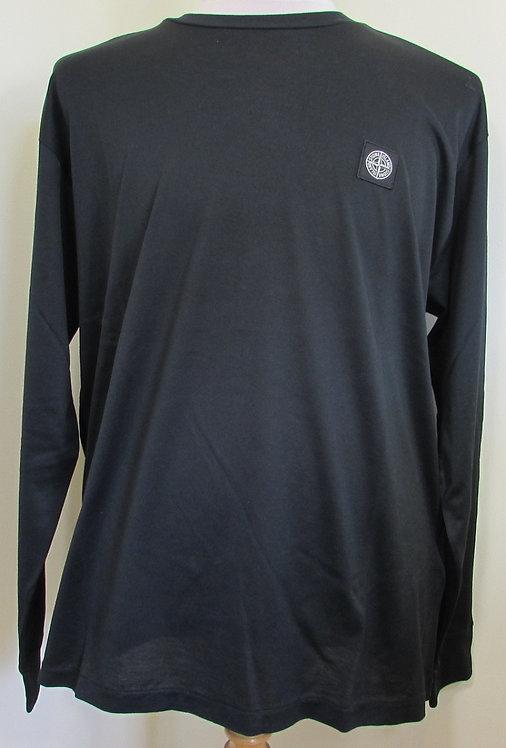 711522713 Stone Island Long Sleeve Tee Shirt in Black (V0029)