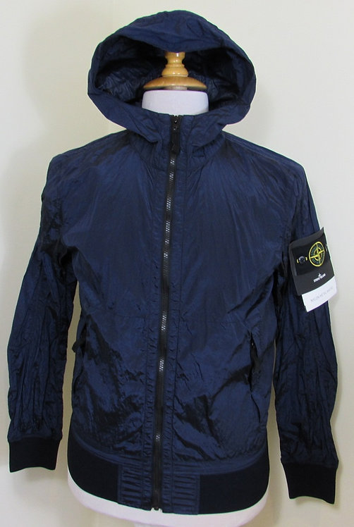 681544047 Stone Island 'Nylon Metal Watro' Hooded Jacket in Ink (V0026)