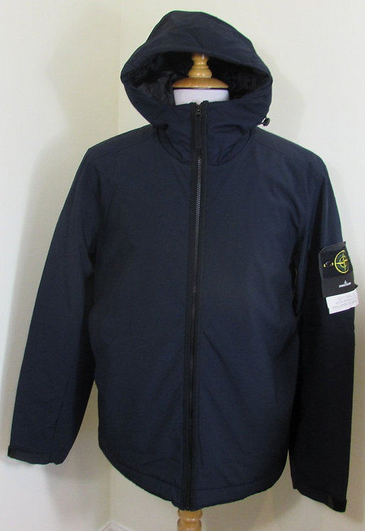 671540927 Stone Island 'Soft Shell-R with Primaloft Insulation' Jacket in Navy
