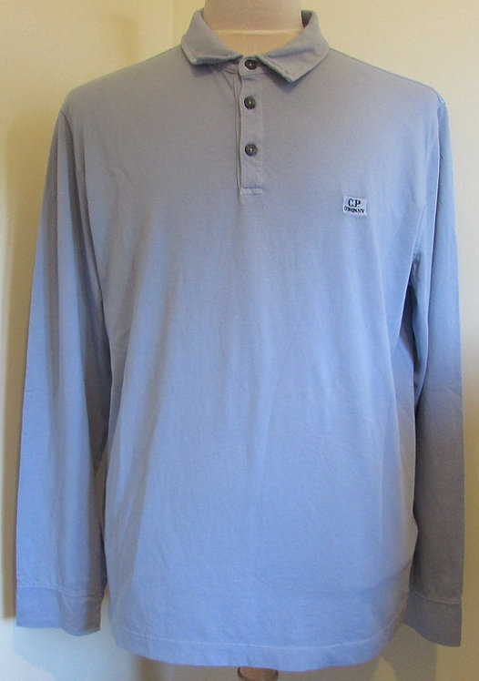 06CMPL216A C.P. Company Polo Shirt in Baby Blue (842)