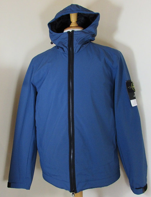 671540927 Stone Island 'Soft Shell-R with Primaloft Insulation' Jacket in Blue